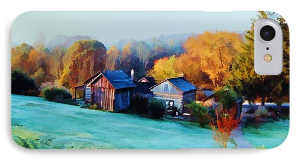 IPhone Case featuring the photograph Misty Autumn Day by Diane Alexander