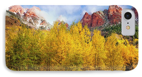 IPhone Case featuring the photograph Misty Autumn Morning by Andrew Soundarajan