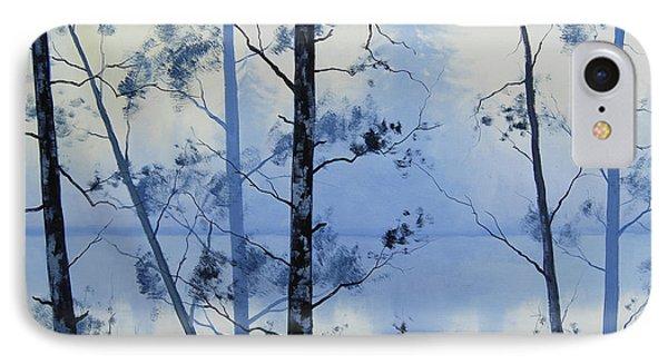 Misty Blue Lake IPhone Case by Graham Gercken