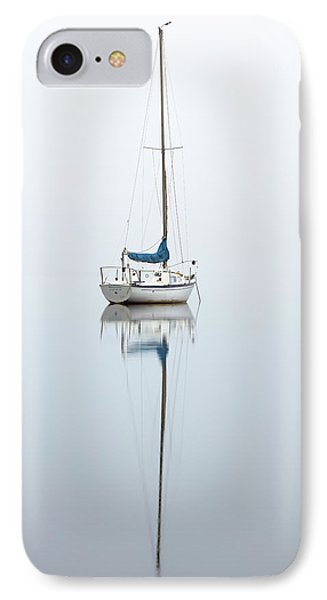 IPhone Case featuring the photograph Misty Boat by Grant Glendinning