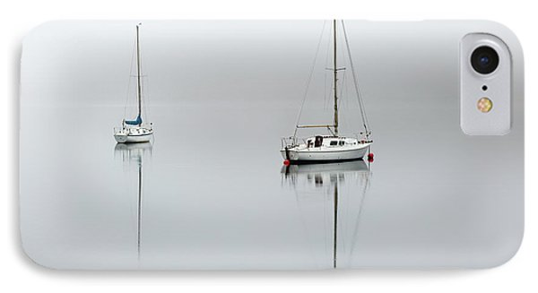 IPhone Case featuring the photograph Misty Boats by Grant Glendinning