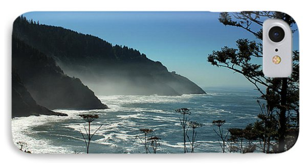Misty Coast At Heceta Head IPhone Case