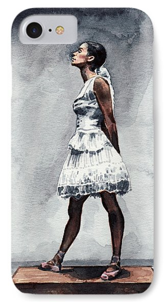 Misty Copeland Ballerina As The Little Dancer IPhone Case by Laura Row