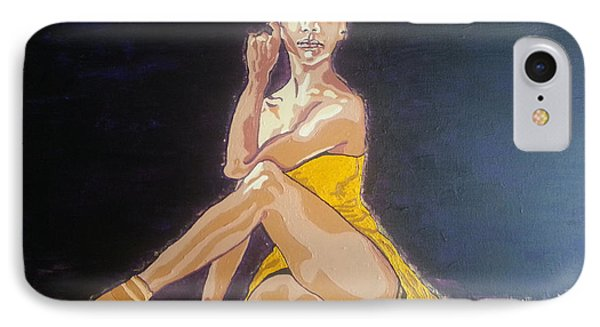 IPhone Case featuring the painting Misty Copeland by Rachel Natalie Rawlins