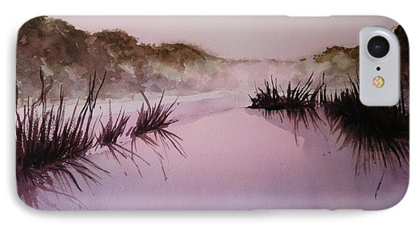 Misty Dawn IPhone Case by Kathy  Karas