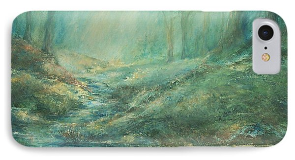 The Misty Forest Stream IPhone Case by Mary Wolf