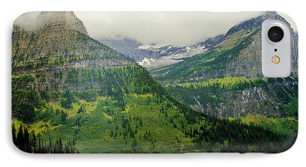 IPhone Case featuring the photograph Misty Glacier National Park View by Kae Cheatham