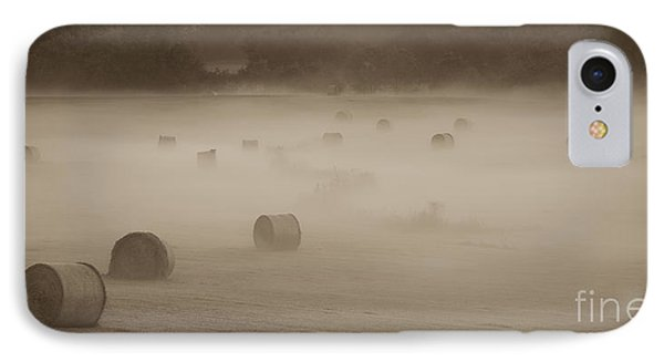 Misty Hay Bales IPhone Case