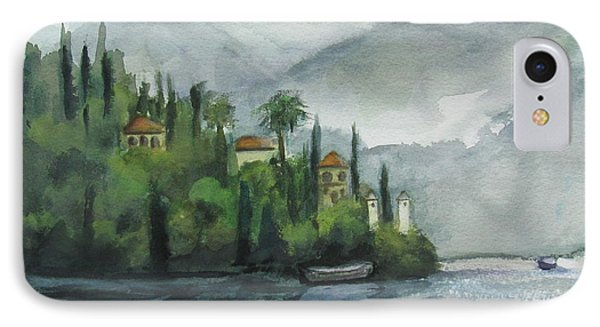 Misty Island IPhone Case by Laurie Morgan