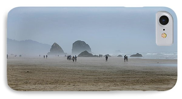 Misty Morning At Cannon Beach IPhone Case by Christiane Schulze Art And Photography
