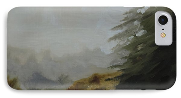 IPhone Case featuring the painting Misty Morning, Benevenagh by Barry Williamson