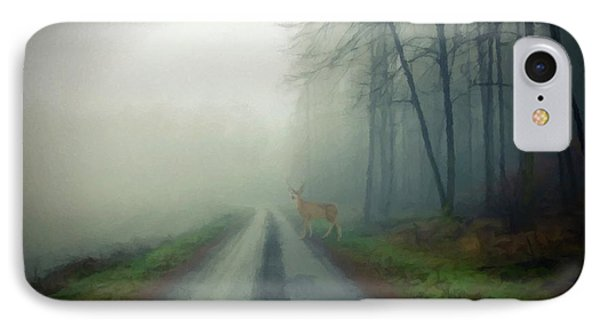 IPhone Case featuring the photograph Misty Morning Deer by David Dehner