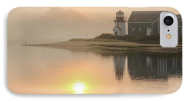 IPhone Case featuring the photograph Misty Morning Hyannis Harbor Lighthouse by Roupen  Baker