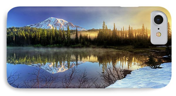 IPhone Case featuring the photograph Misty Morning Lake by William Lee