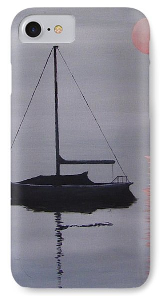 Misty Morning Mooring IPhone Case