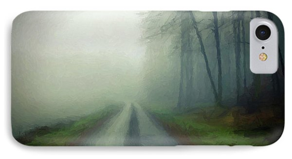 IPhone Case featuring the photograph Misty Morning Mountain Road  by David Dehner