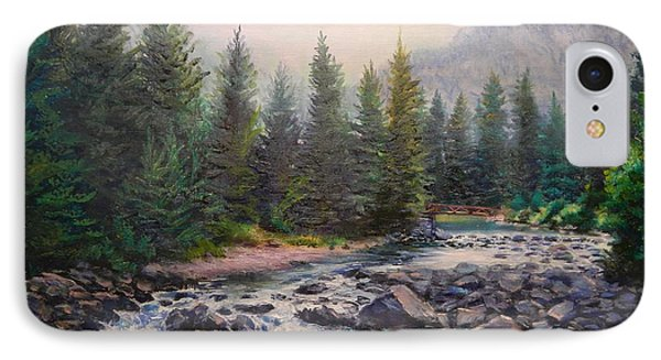 Misty Morning On East Rosebud River IPhone Case by Patti Gordon