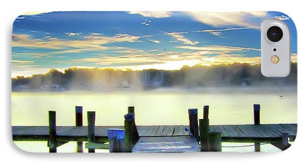 IPhone Case featuring the photograph Misty Morning On Rock Creek by Brian Wallace