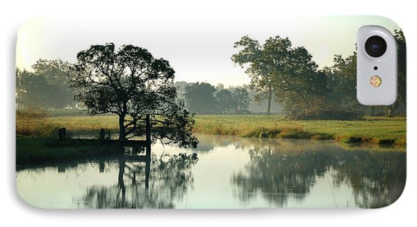 Misty Morning Pond IPhone Case by Michael Thomas