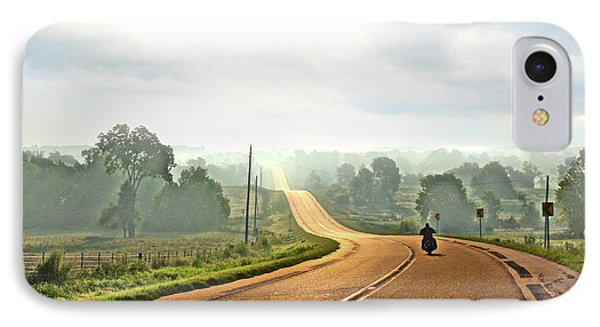 Misty Morning Ride Arkansas IPhone Case