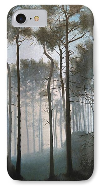Misty Morning Walk IPhone Case