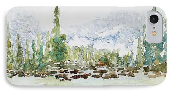 Misty Mountain Lake Phone Case by Mary Benke
