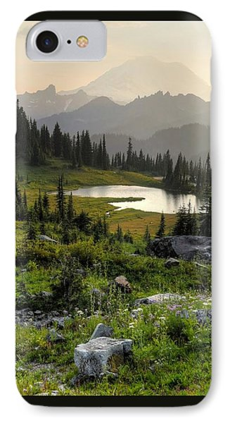 Misty Mountain Landscape IPhone Case by Peter Mooyman