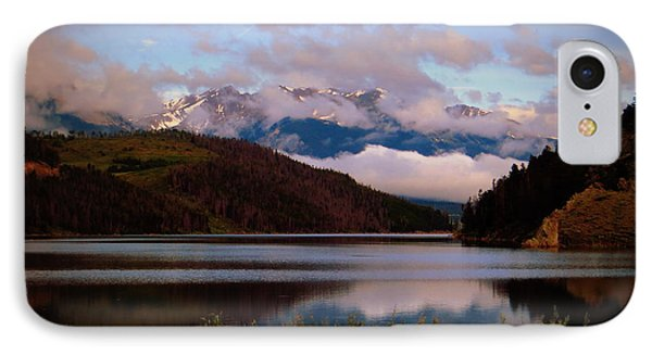 IPhone 7 Case featuring the photograph Misty Mountain Morning by Karen Shackles