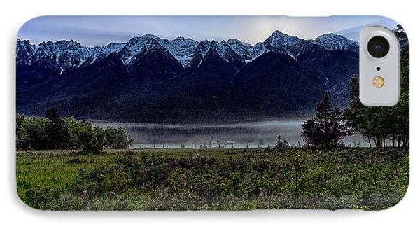 IPhone Case featuring the photograph Misty Mountain Morning Meadow  by Darcy Michaelchuk