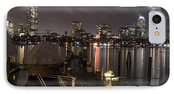 Misty Night On The Charles River Boston Ma Boat IPhone Case by Toby McGuire