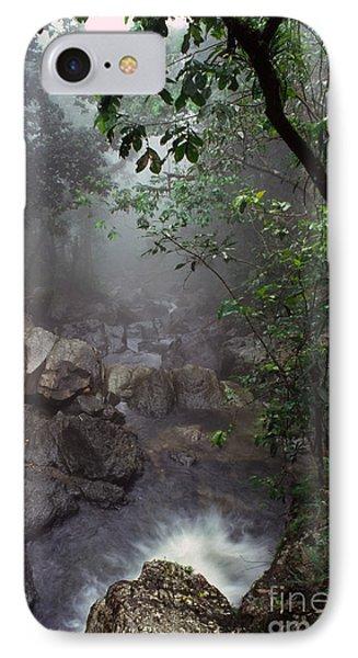 Misty Rainforest El Yunque Mirror Image Phone Case by Thomas R Fletcher
