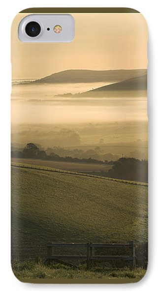 Misty South Downs IPhone Case by Hazy Apple