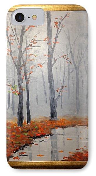 Misty Stream In Autumn IPhone Case