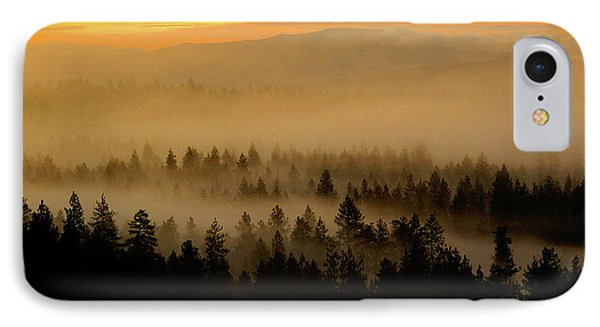 IPhone Case featuring the photograph Misty Sunrise by Ben Upham III