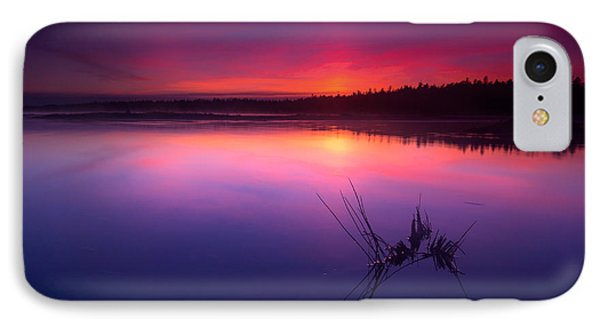 Misty Sunset At Singing Sands Beach IPhone Case by Cale Best