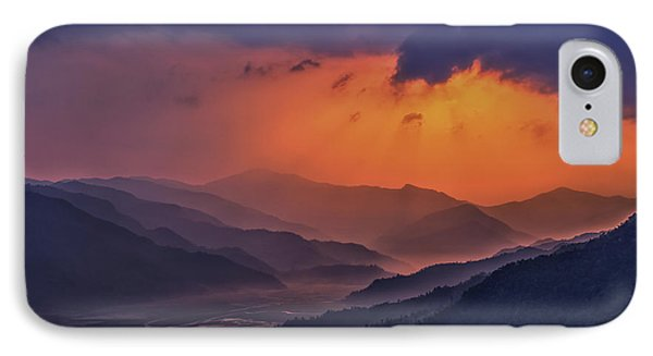 Misty Sunset IPhone Case