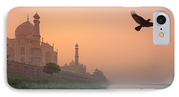 Misty Taj Mahal Phone Case by Marji Lang