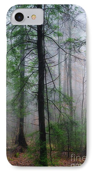 IPhone Case featuring the photograph Misty Winter Forest by Thomas R Fletcher