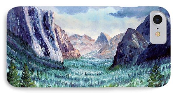 Misty Yosemite Valley IPhone Case