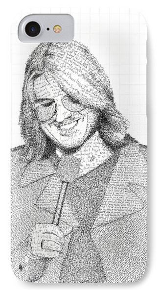 Mitch Hedberg In His Own Jokes Phone Case by Phil Vance