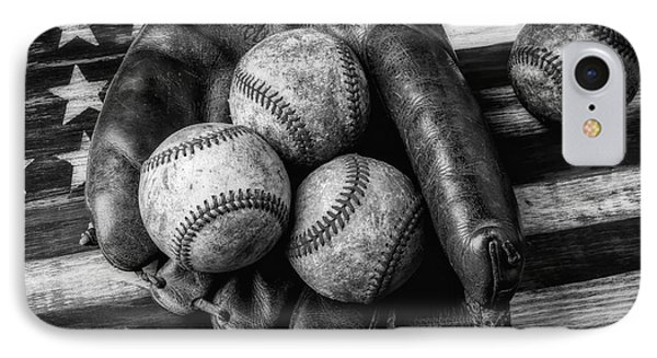 Mitt With Three Balls Black And White IPhone Case