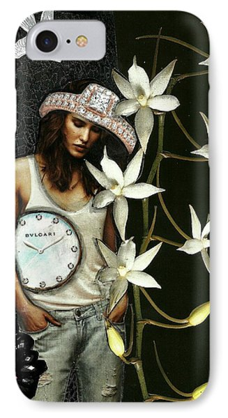 Mixed Media Collage Lost In Thought IPhone Case