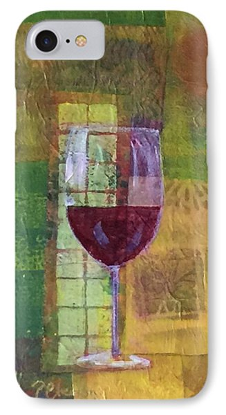 Mixed Media Painting Wine IPhone Case by Patricia Cleasby