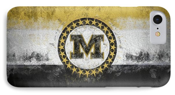 IPhone 7 Case featuring the digital art Mizzou State Flag by JC Findley