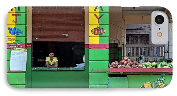 IPhone Case featuring the photograph Mjay Fruit Stand Havana Cuba by Charles Harden