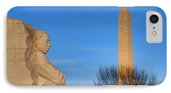 Mlk And Washington Monuments IPhone Case by Olivier Le Queinec