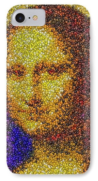 IPhone Case featuring the mixed media Mm Candies Mona Lisa by Paul Van Scott