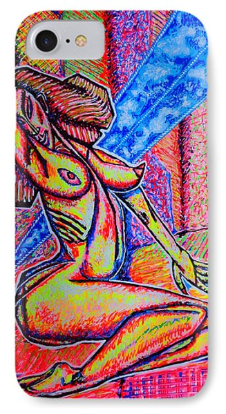 IPhone Case featuring the painting M.m.nue/sketch/ by Viktor Lazarev