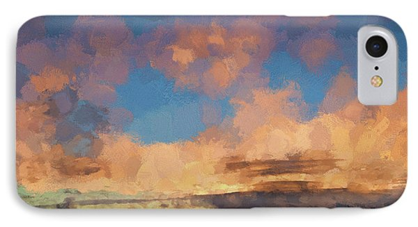 Moab Sunrise Abstract Painterly IPhone Case