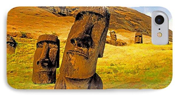 Moai Phone Case by Dennis Cox